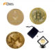 Hot Gift Custom Design Metal Commemorative 24k gold bitcoin with display box