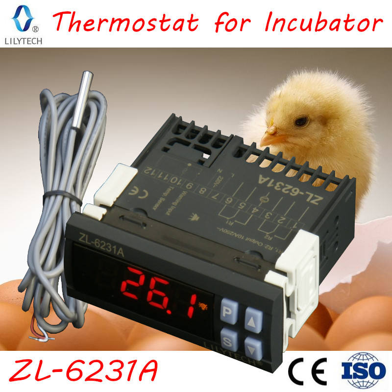 ZL-6231A, Incubator Controller, with Timer, for egg turn or fan, 2 in 1, STC-1000, XH-W3001 or W1209, +, TM618N, Lilytech