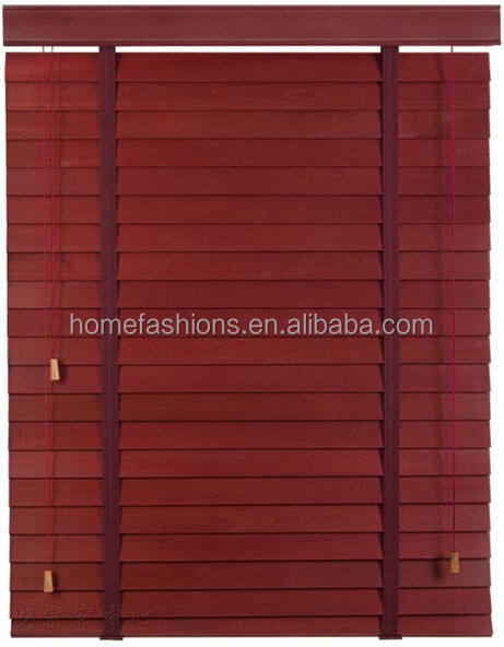 Faux wood blinds and bamboo shade /PVC shutter/ wooden slats