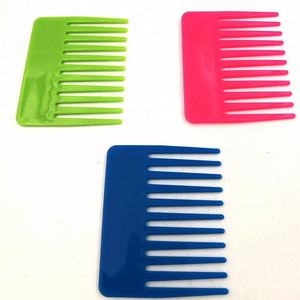 Salon Accessories Colorful Plastic Hair Cutting Small Wide Tooth Comb