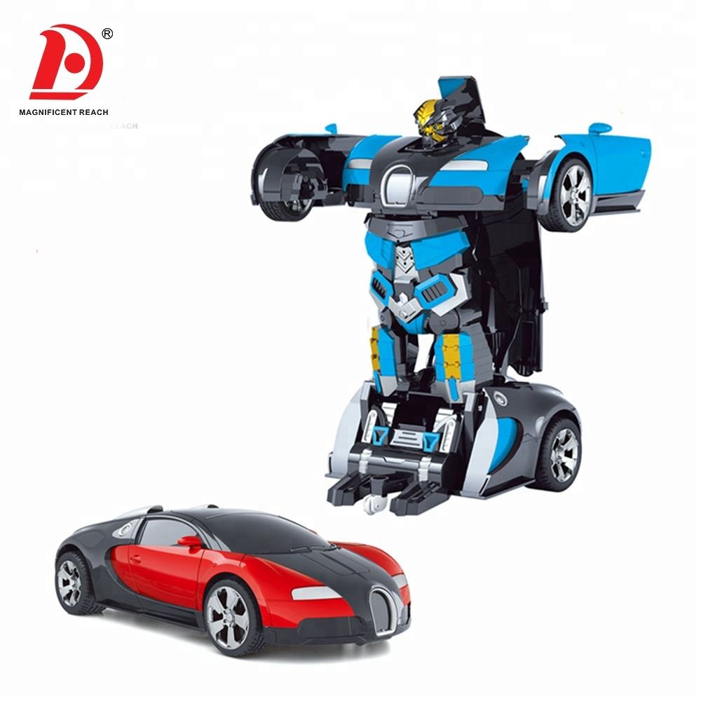 HUADA 2021 Multi-function One Key Transformable RC Deformation Robot Car Toy with Sound for Kids