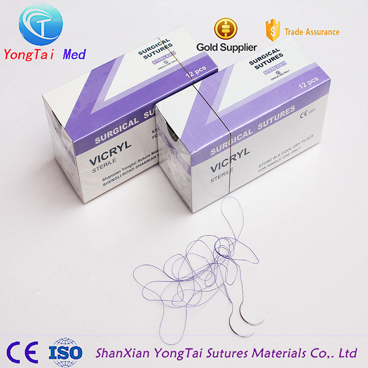 Medical Supplies PGA Suture with Needle Surgical Suture