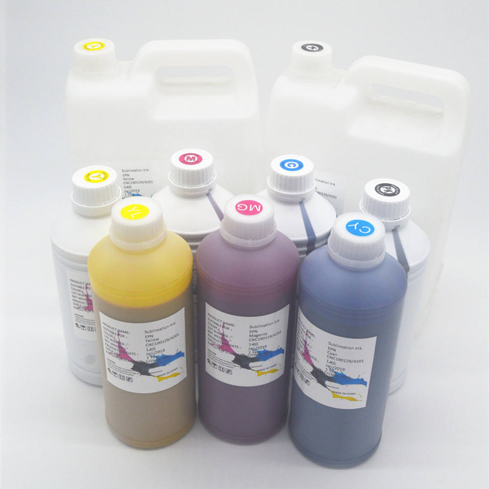Top quality fabric printer sublimation ink for 5113 head cartridges refillable printer