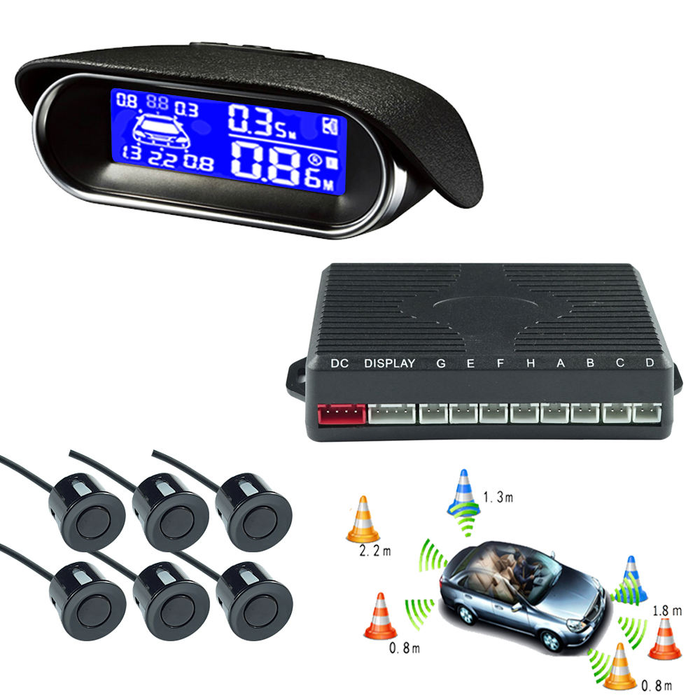 LCD Display Hot Selling Car Parking 6 Sensor System