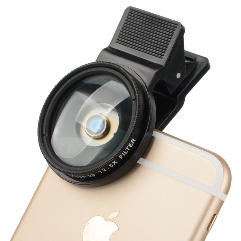 Zomei 2 in 1 cell phone camera lens kit clip-on smartphone close up macro filters for iphone camera lenses