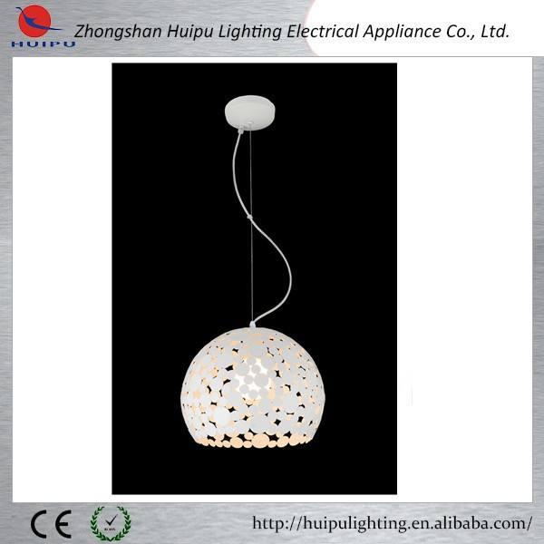 Üst satış metal demir yuvarlak top beyaz halide Zhongshan aydınlatma sarkıt