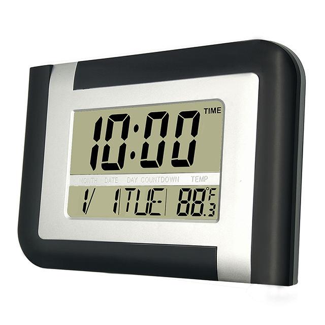 Jumbo Calendário LCD de Desktop Grande Número Digital de Alarme Relógio de Parede para a Decoração Home