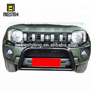 4x4 Jimny Black Stainless Steel Front Bumper Bull Bar Front Grille Guard