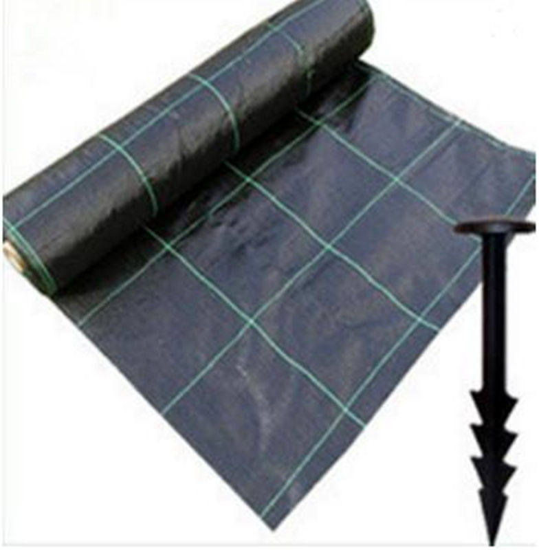 PP anti weed mat,agricultural plastic weed control fabric,90gsm black weed prevent cloth with cheap price