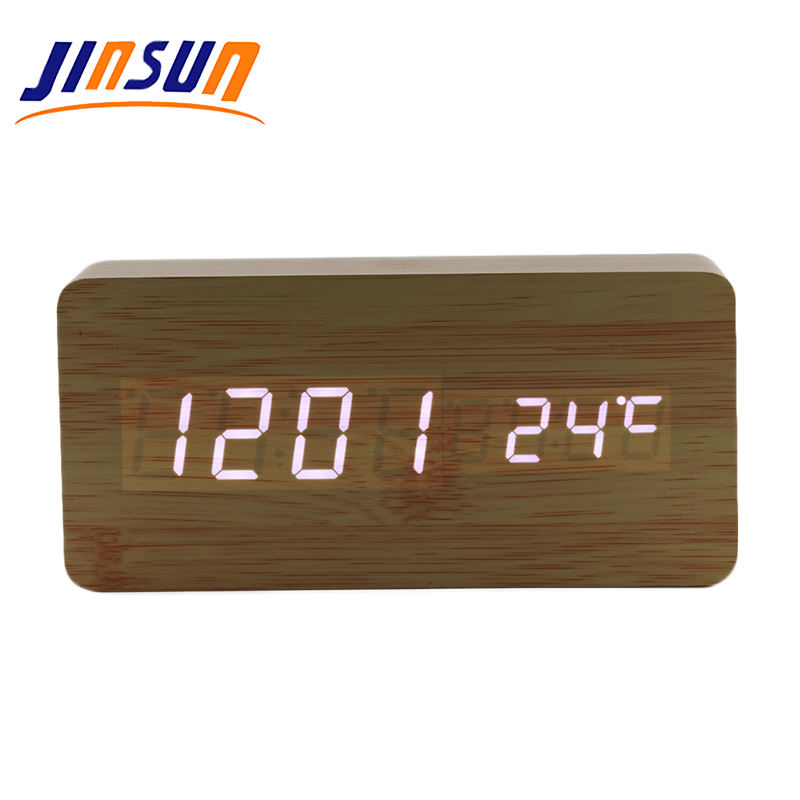 JINSUN Snooze Led Digital Alarm Clock Desk Clock Mini Digital Clock For Car