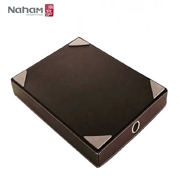 NAHAM new design leather file paper tray for office