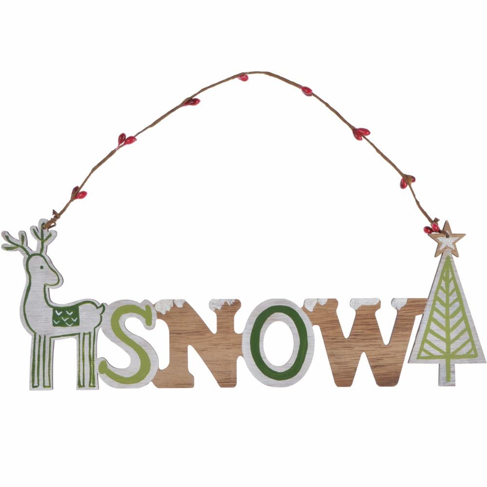Wholesale useful merry christmas wooden hanging christmas wall decoration used in stores