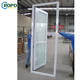 AS2047 Pvc Shatterproof Store One Way Glass Patio Door With Blind