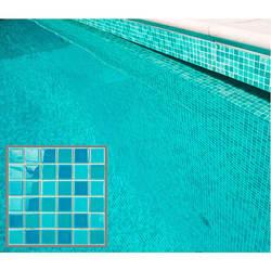 Wholesale porcelain ice crackle mosaic tile 300x300 glazed aqua blue ceramic mosaic swimming pool tiles