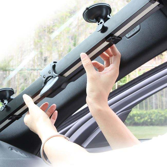 Windshield Roller Automatic Retractable Car Sunshade For Front Window