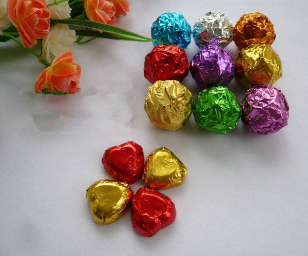 chocolate wrapping tin foil covered candy aluminum foil Embossing paper