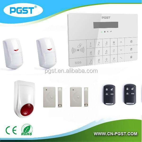 GSM система пожарной сигнализации беспроводной панель управления с APP RFID, CE RoHS