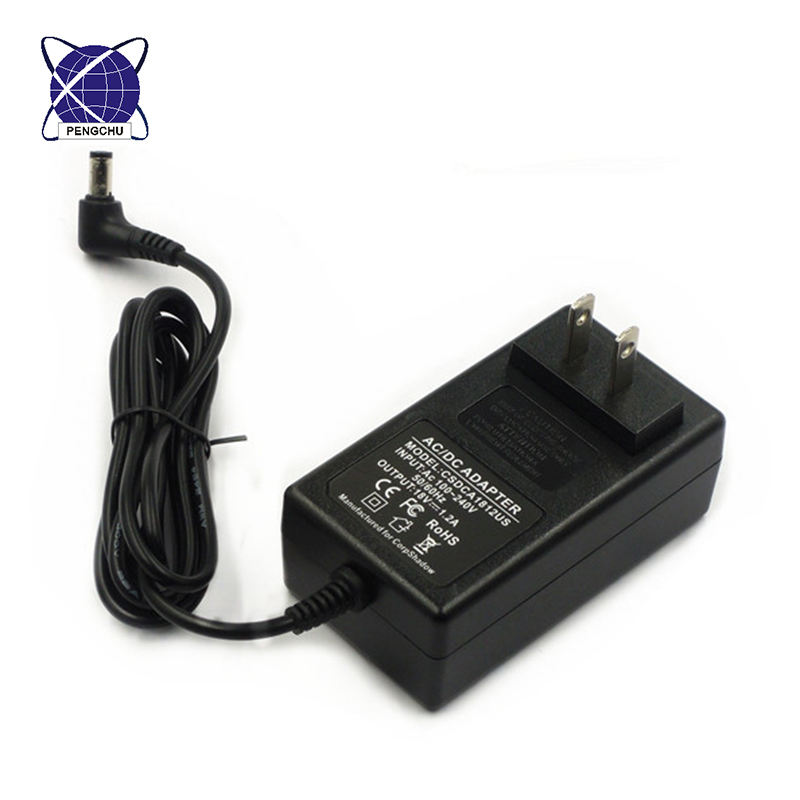 led driver 12v 1a 12w wall plug-in universal ac dc adapter lcd power supply