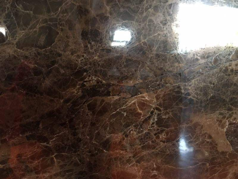 Dark Emperador Slab Brown Marble Floor