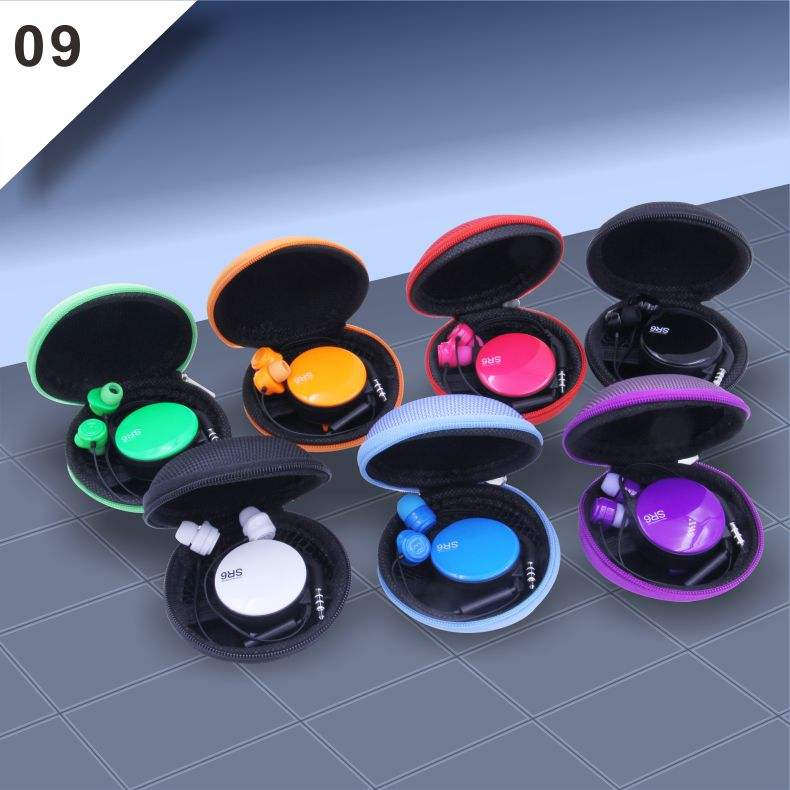 In-Ear 3.5mm Retractable Earbud Earphones Headset For iphone MP3 MP4 Player Noise Cancelling Earphone