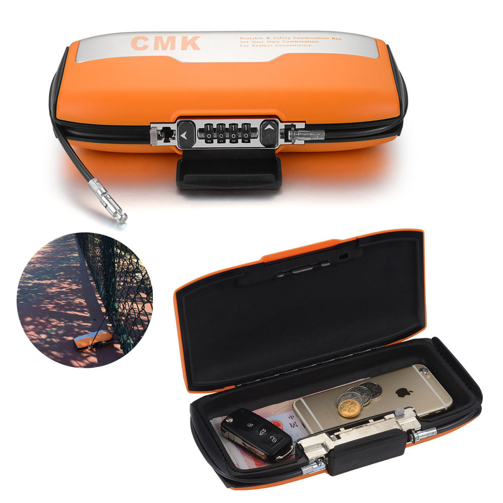 Portable Personal Safes Lockbox For Home Outdoor Traveling Sport to Store Keys Money Wallet GYM Card Jewelry and so on