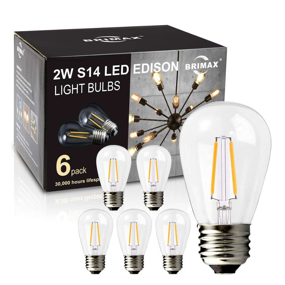 BRIMAX 6pack S14 2W LED bulb CE RoHS certified led light bulb