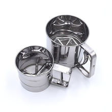 pastry tools stainless steel hand powder shaker cup flour sieve sugar flour wire filter vibrating sifter strainers for baking