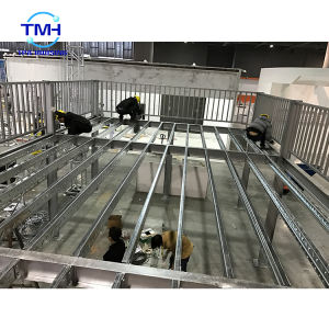 Prefab galvanized light steel structure building for exhibition house platform