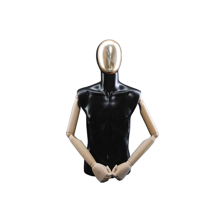 Half Body Male Mannequin Hanger Suit Formal Dress Display Rack Model Men's Fabric Mannequin
