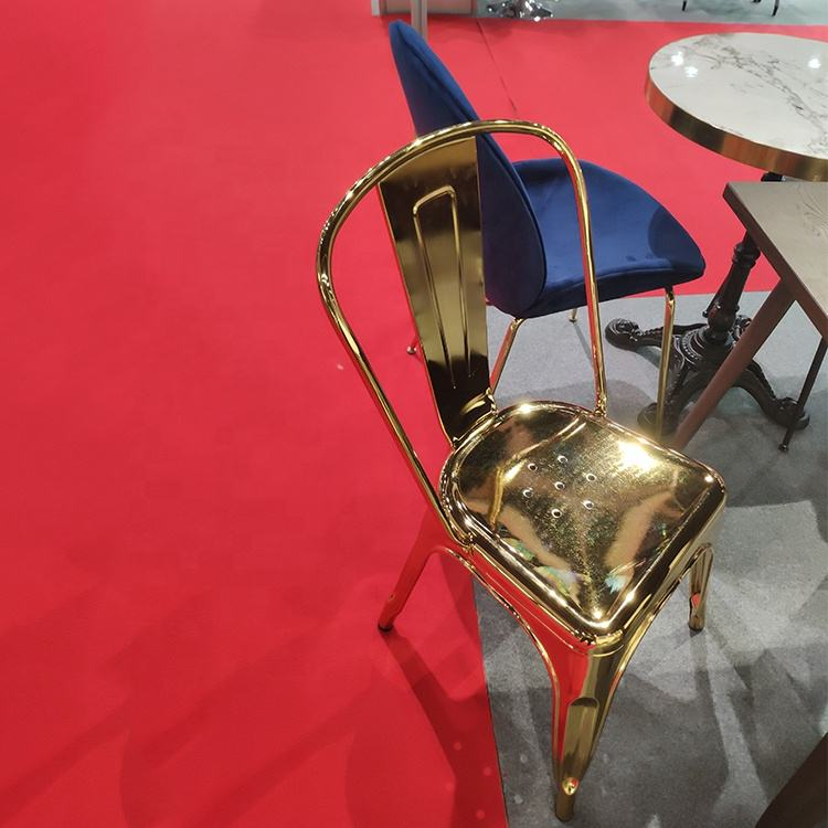 (SP-MC035) Popular India cafe furniture restaurant golden metal chair