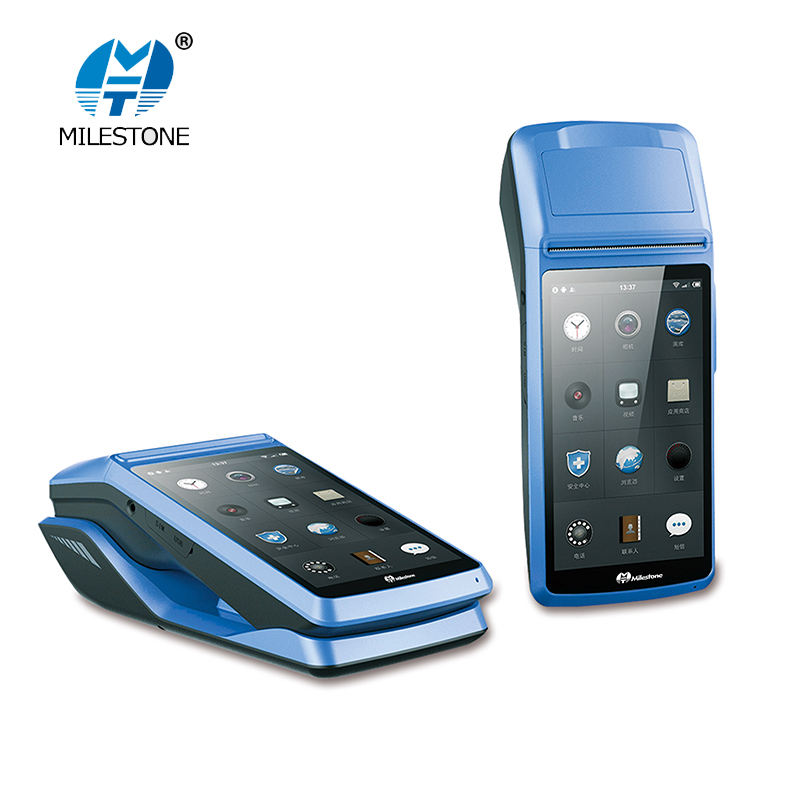 Milestone MHT-M1 Wireless bluetooth wifi China OEM With Barcode Scanner Receipt Printer Handheld Portable Pos Terminal Supplier