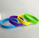 customized embossed logo silicon wristband