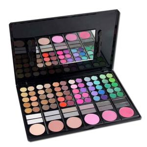 Cosmetic 78 Color matte eyeshadow make up naked eyeshadow palette with customer logo