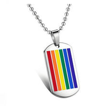 Stainless Steel Rainbow Pendant Men ,  ying and yang Link Chain Necklaces