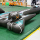 Giant Exhibition Model Hanging Decorative Cool Black PVC Inflatable Fighter Model