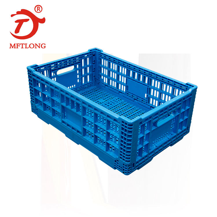 Heavy Duty Stackable pallet box foldable box storage container folding collapsible Turnover box egg plastic crate