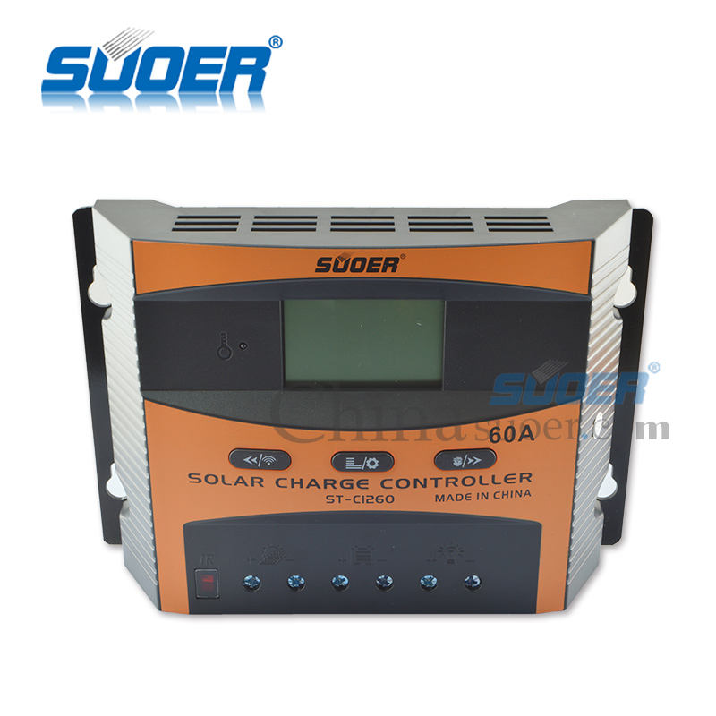 Suoer 12 v/24 v 60amp solar panel pwm controller mit dual USB