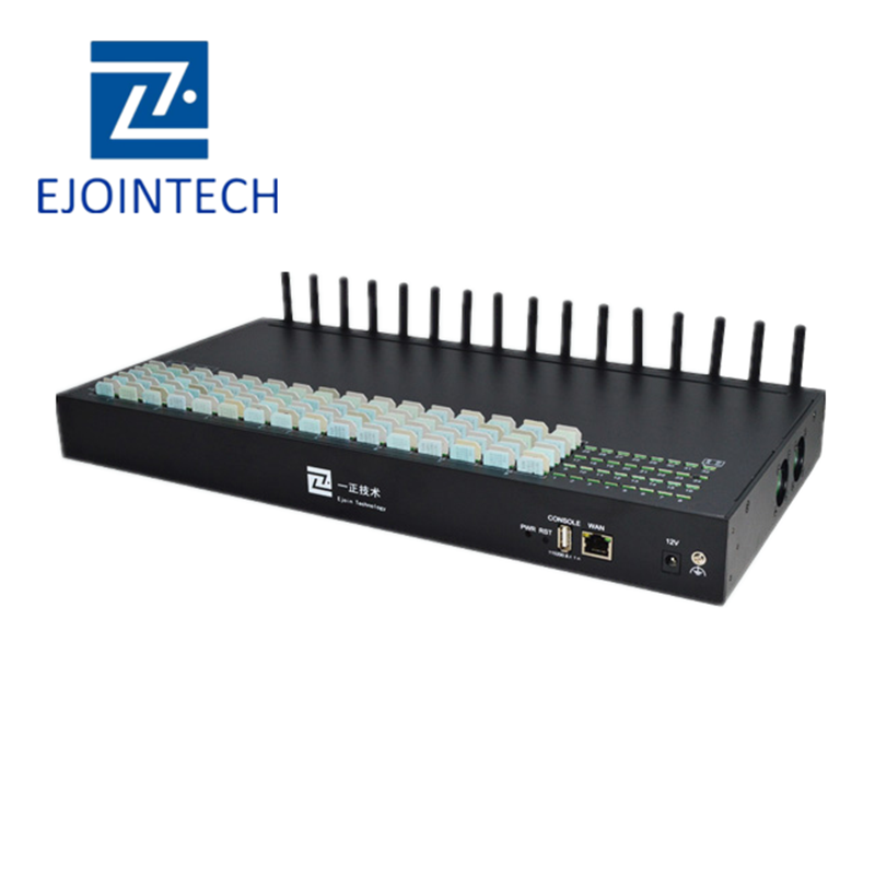 Ejoin new imei changer voip 16 port 16/64/128/256/512 sim cards goip gsm/cdma/wcdma/lte gateway with human behavior