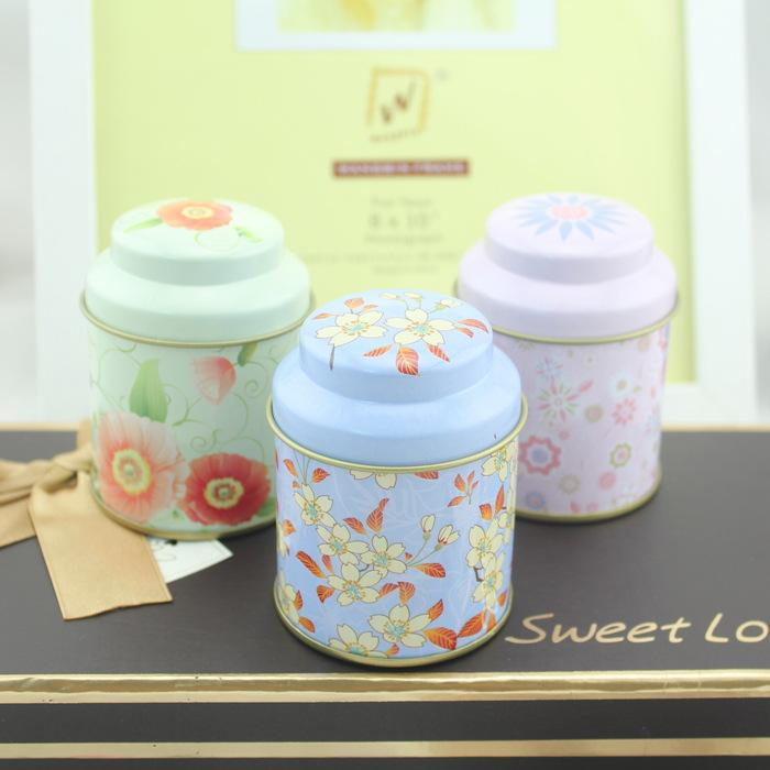 R1124H Wholesale small metal round tin box for tea coffee with lid
