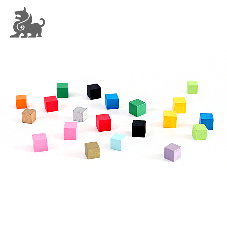 Wood crafts cubes with custom size and color