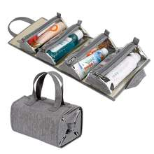 Folding Portable Travel Men Roll Up Toiletry Bags Cosmetic Makeup Kit