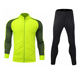Portugal high quality fluorescence color microfiber yellow tracksuit set