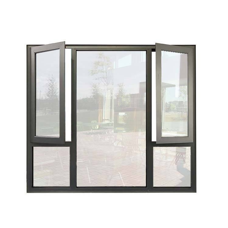 2019 hot sale Casement Low-E glass aluminum window for hotel with Anodized aluminum frame