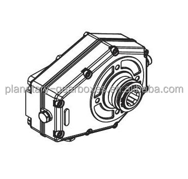Tractor gearbox for PTO drive shaft, agricultural machines 540 rpm, 3.76:1 ratio, China manufacturer OEM / ODM