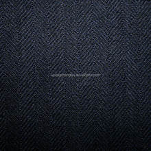 From Wujiang Runze Textile 100% Polyester Navy Tweed Herringbone Fabric For Apparel