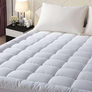 Luxury Hotel Waterproof Protector Mattress Pad Down Alternative Pillow Top