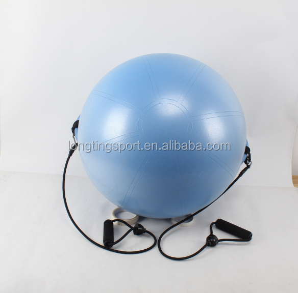 Share anti burst private label fitness equipment 65cm gym yoga exercise ball with handle