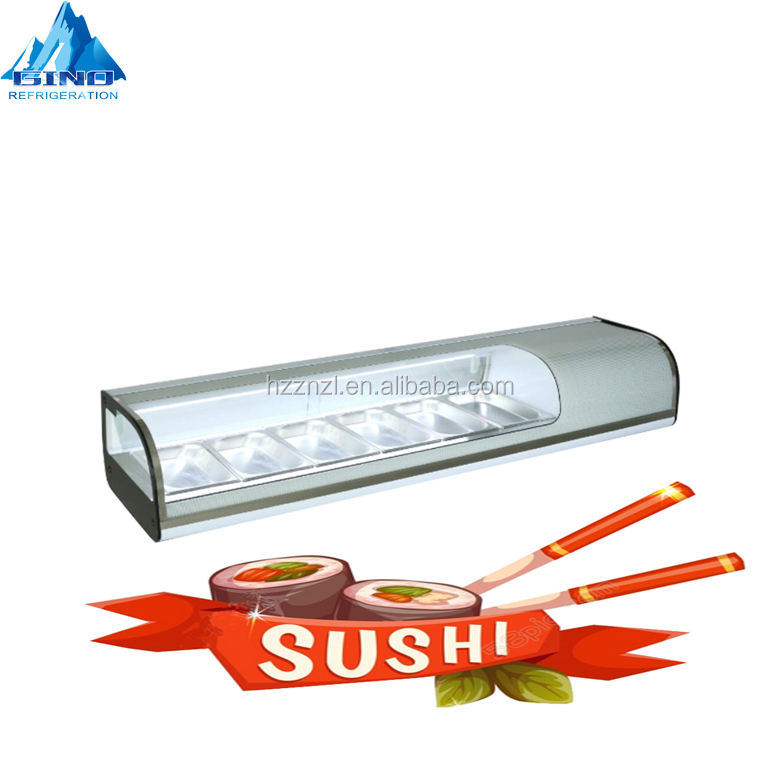 1500mm sushi bar 62L sushi cold food display CE Certificate Approved