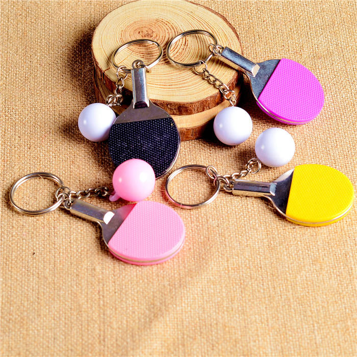 Creative Metal Sport Ping Pong Table Tennis Ball Keychain Badminton Bowling Ball Keyring Souvenir Gift