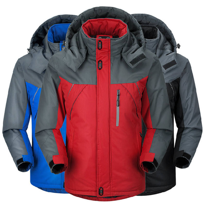 Men Winter Thick Velvet Windproof Down Coat High Quality Male Waterproof Jacket